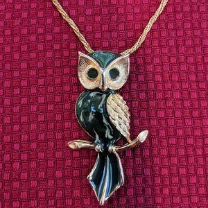 Jewelry - Vintage 80's Owl Necklace